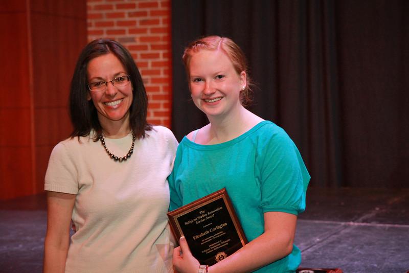 Leadership, Service, Volunteerism Awards Day; Spring 2013.