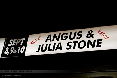 Angus & Julia Stone @ The Palais, Melbourne - 8 September 2010