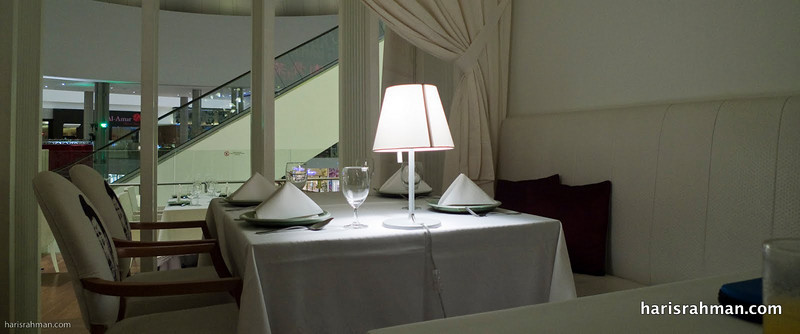 Nice tables at Celadon, Pavilion
