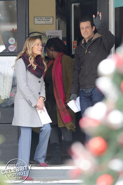 LeAnn Rimes Films It's Christmas Eve Movie With Tyler Hynes