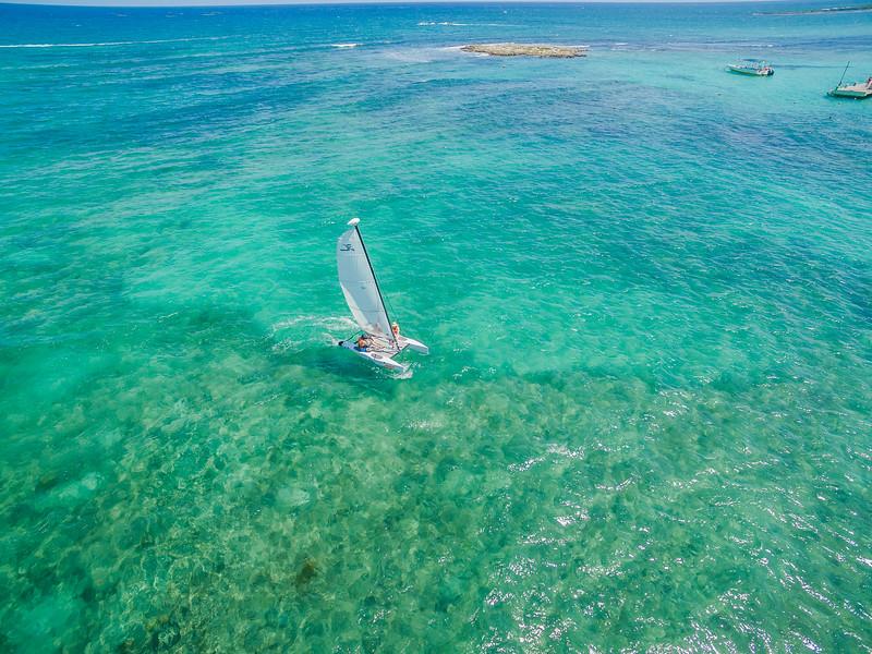 Catamaran sailing in Mexico