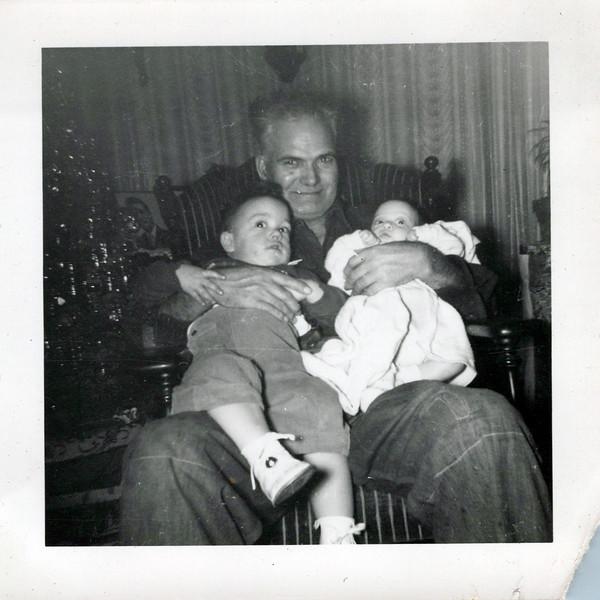 1951 Christmas Tony Konyha with Donny and Danny.jpeg