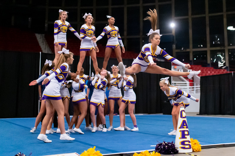 Broughton cheerleading Pre-States. November 16, 2019. D4S_1794