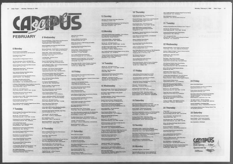 Daily Trojan, Vol. 108, No. 17, February 06, 1989