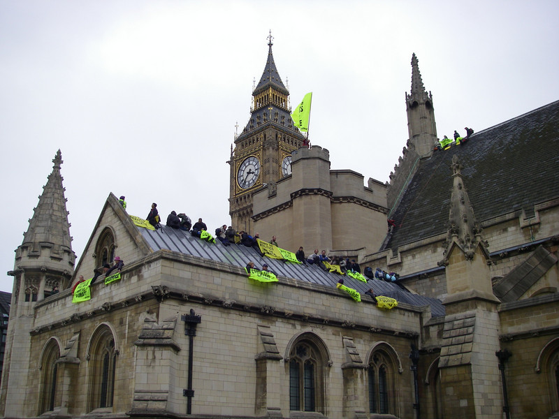 A bunch of Greenpeace protestors were sitting around the castle protesting ... something.  I was just annoyed they were in my pictures! :)