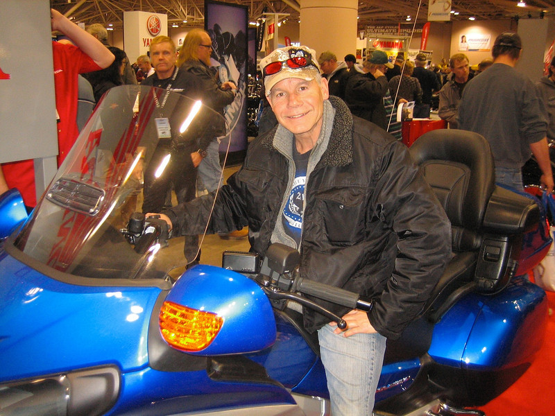 At the motorcycle show.
