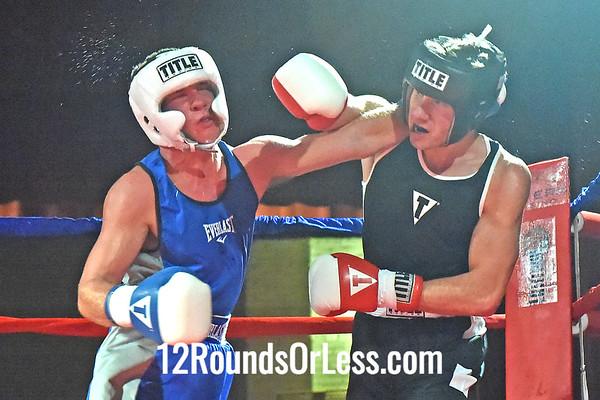 Bout 5 Jordan  Zlacki(Blue Gloves), Pittsburgh BC, Pittsburgh, PA -vs- Alex Vereshchagin(Red Gloves), United BC, Solon, 165 lbs, Novice