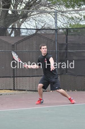 Assumption at Clinton High boys tennis (April 16, 2013)