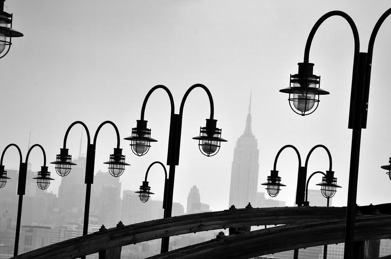 Empire State Building in Mist bw.jpg