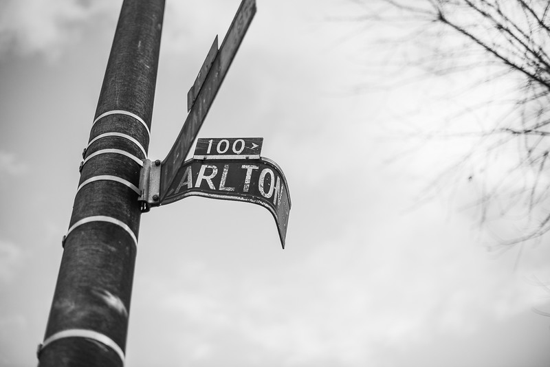 Baltimore -- The South Carlton Street sign on Nov. 9, 2018.