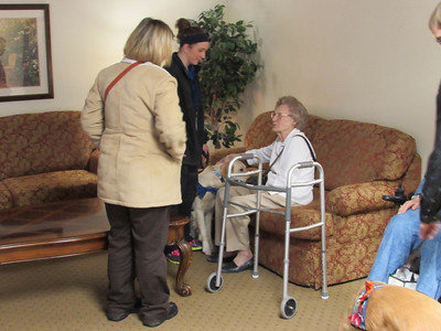 2014-01-20 CUW Handlers In-Training Visit Tamarack Senior Living
