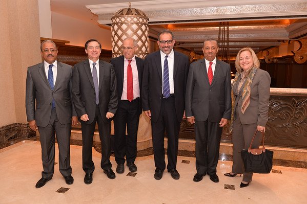 Special Meeting of Libyan Prime Minister, Abdullah Al-Thinni, with envoys and diplomats of USA, UK, France and Italy, hosted by the Embassy of Libya in Abu Dhabi