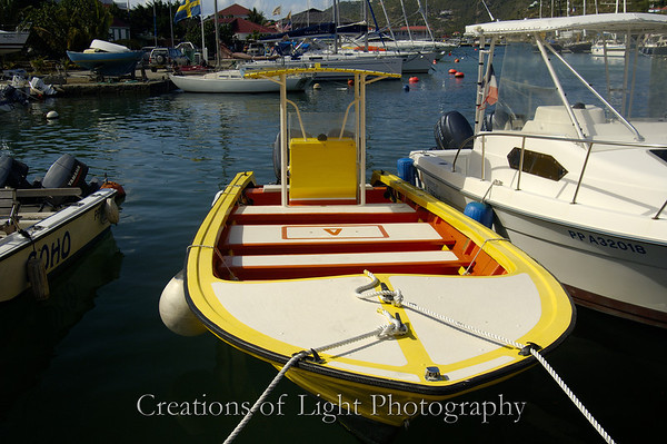 Small boats at St Barths
