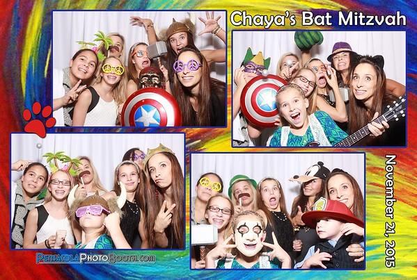 Chaya's Bat Mitzvah 11-21-2015