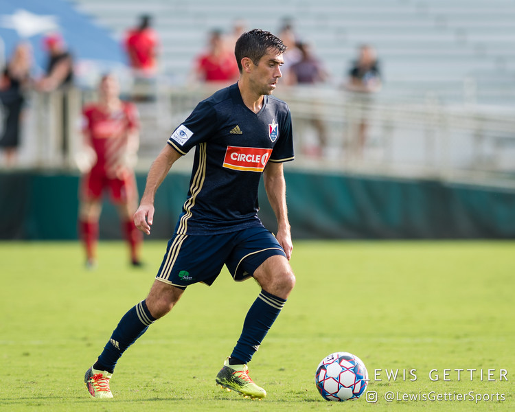 North Carolina FC midfielder Austin da Luz (6)