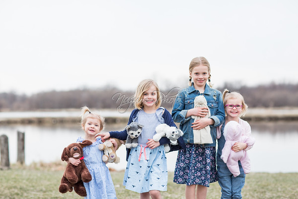April 2018 - Evalyn, Claire, Ruth and Elsie