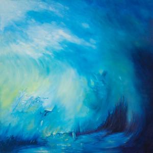 """Rhythm III Soul Whispers"" (oil on canvas) by Kay Kiria"