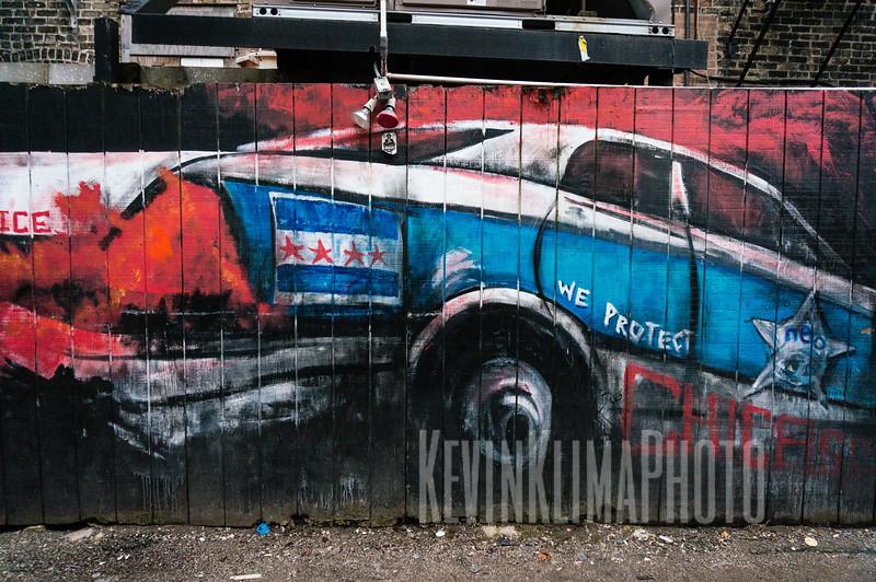 Chicago Police Car Street Art