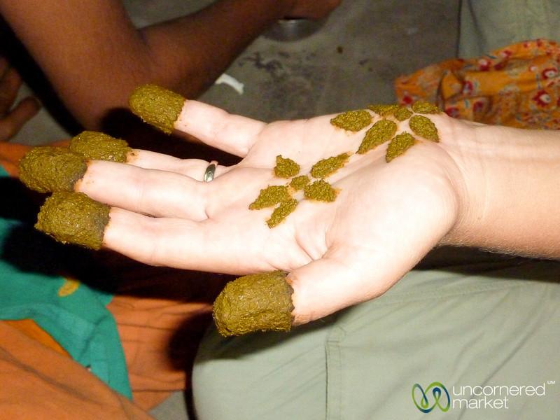 Mehndi (Henna) Decoration on Hand - Hatiandha, Bangladesh