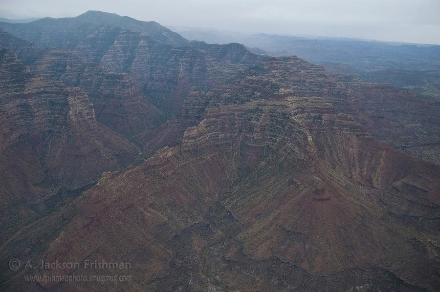 Flying over Desolation Canyon, Utah, June 2010.
