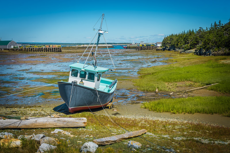 Travel Photography - Low Tide at Grand Manan Island