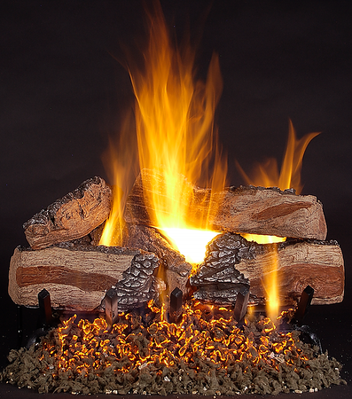Vented Gas Logs on LC Burner