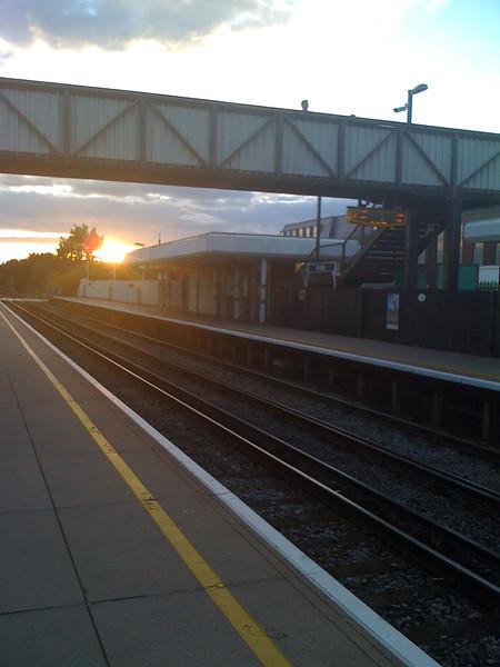 Sunset over Polegate station
