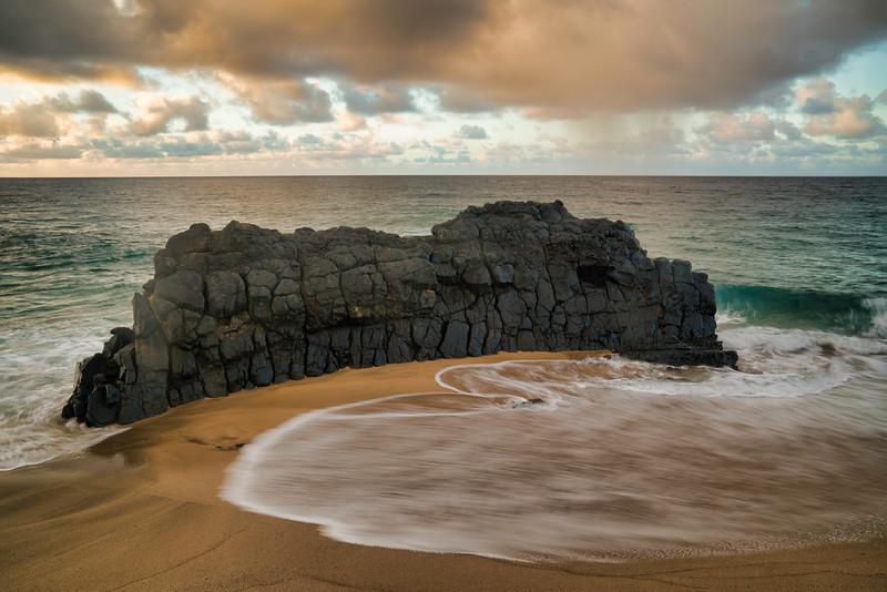 Lumahai Beach Lava Wall