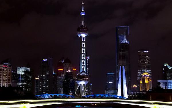 Lumières de Pudong, vues de Suzhou Creek