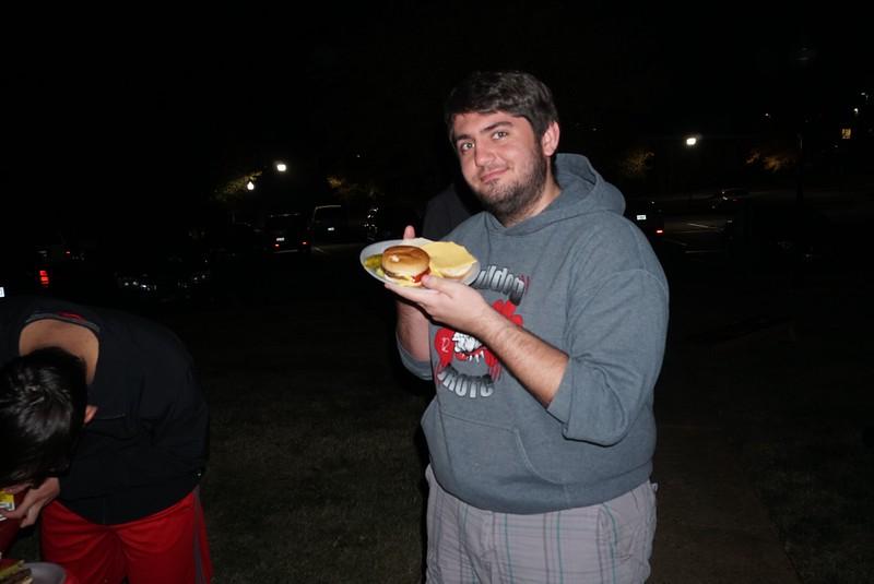 Jon Kee enjoying the Mauney Hall Cookout
