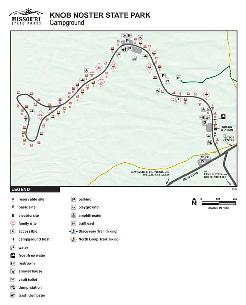 Knob Noster State Park (Campground Map)