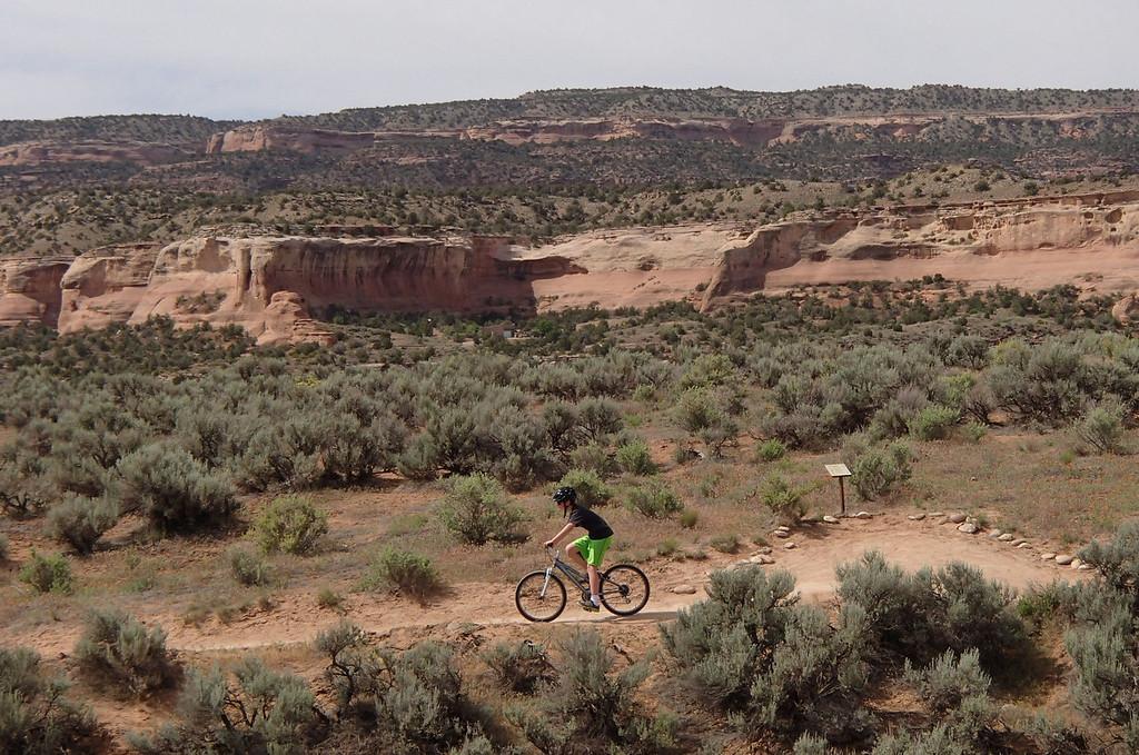 . Biking the beginner-level Rustler\'s Loop along Kokopelli\'s Trail near Fruita.  Photo provided by Kara Williams
