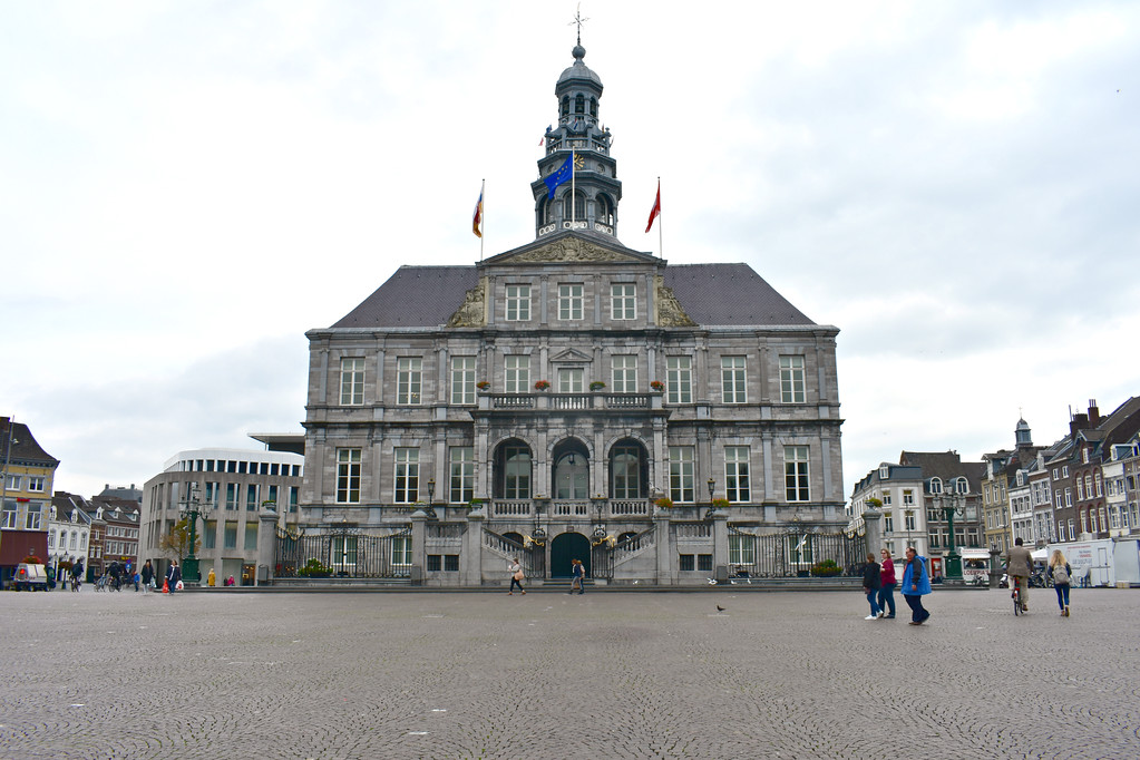 City Hall and Markt in Maastricht, Limberg, The Netherlands