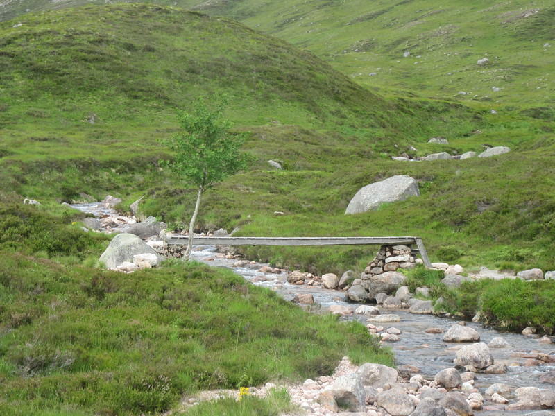 Bridge across the Coire Etchachan burn