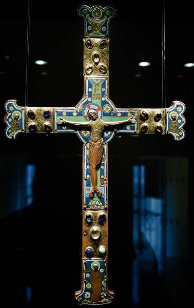 Münster, Domkammer, Altarkreuz aus Limoges (um 1250)