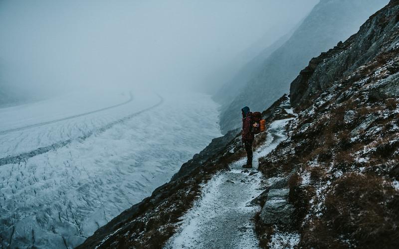 Autumn Hike at Aletsch Glacier, Switzerland