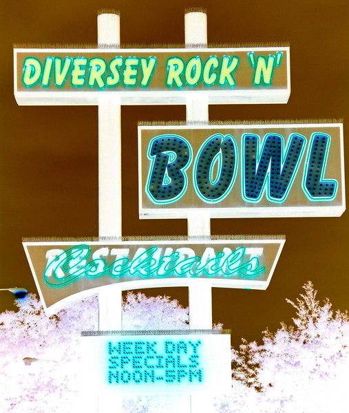 Diversey Rock N Bowl, Chicago  Negative