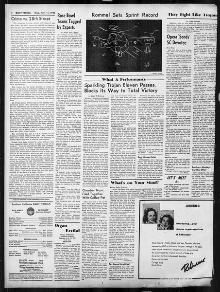 Daily Trojan, Vol. 34, No. 38, November 11, 1942