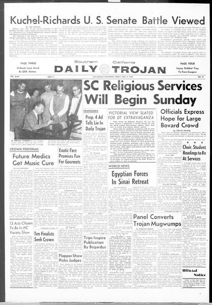 Daily Trojan, Vol. 48, No. 31, November 02, 1956