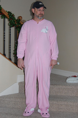 Don's Pink Bunny PJs - Christmas 2009