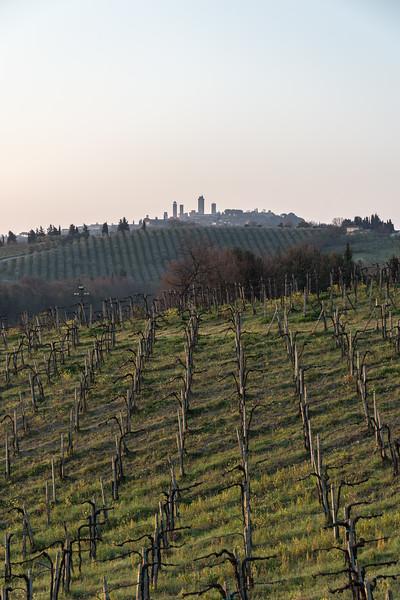 At Sunrise - San Gimignano, Siena, Italy - March 26, 2016