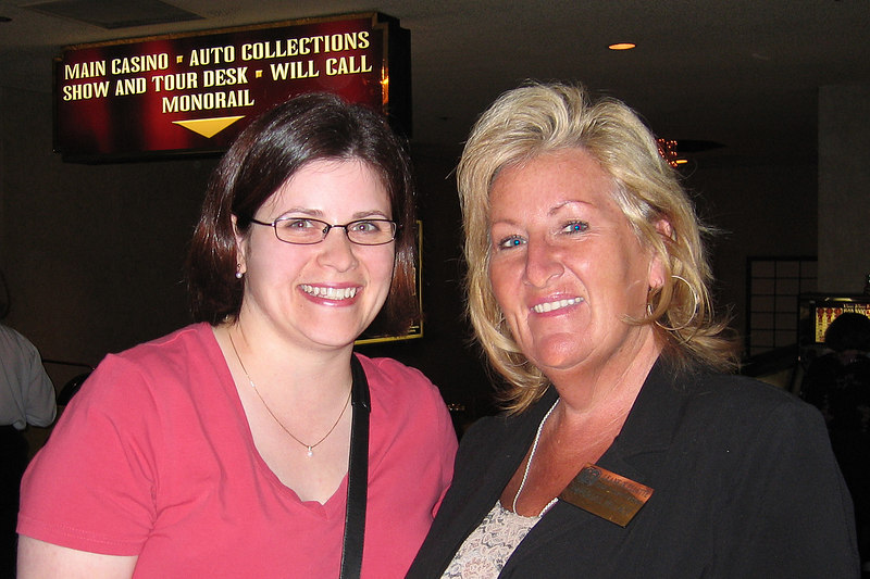 Darcie actually ran into Leanne Ouellette, a family friend, who works at the Imperial Palace - it's a small world!