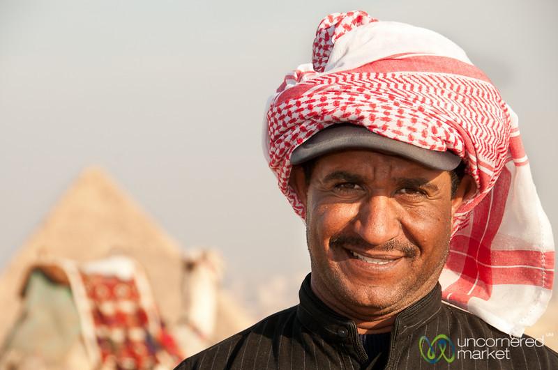 Camel Owner at Giza - Egypt