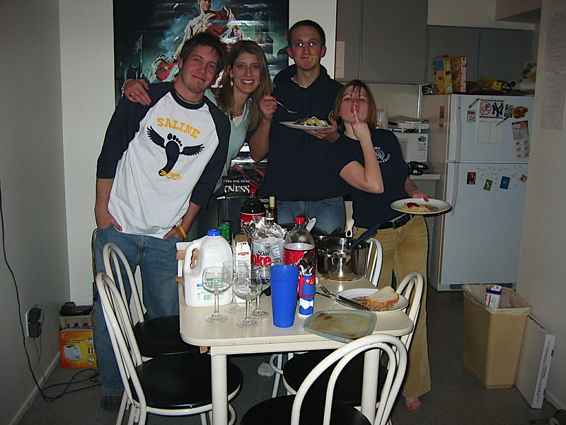 05 - Brian, Kristen, Tom and Steph enjoying their meal (well, maybe not Steph).JPG