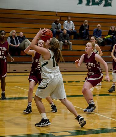 Girls JV Basketball v Holy Names: Set two