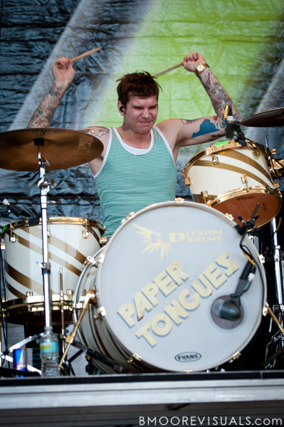 Jordan Hardee of Paper Tongues performs in support of their self-titled debut on December 5, 2010 during 97X Next Big Thing at 1-800-ASK-GARY Amphitheatre in Tampa, Florida