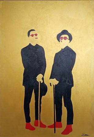 """""""the Snobs"""" (acrylic) by Zifa Agisheva"""