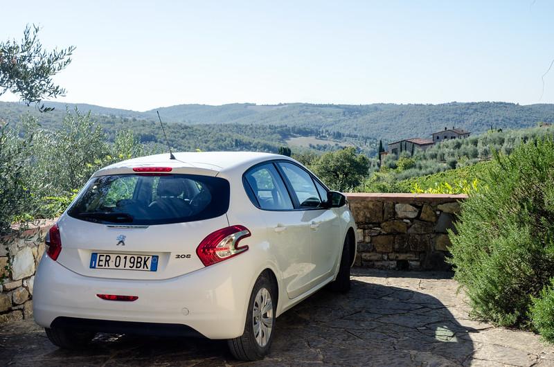 Rental Cars view