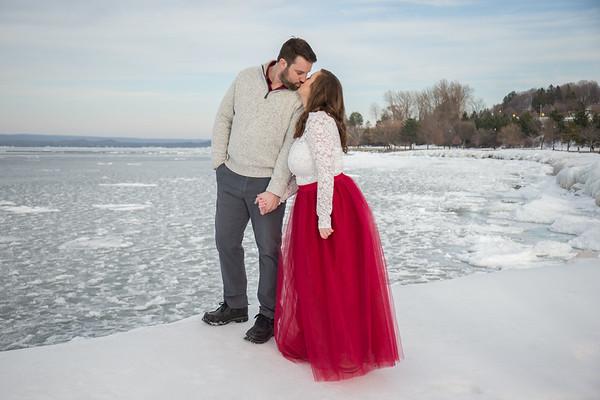 Winter Engagement Petoskey Michigan January 2018 Sarah + Jay