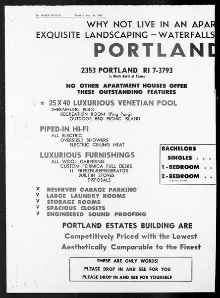 Daily Trojan, Vol. 57, No. 1, September 14, 1965